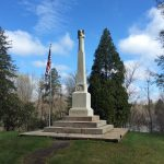 Located in Evergreen Cemetery, this Civil War Memorial pays tribute to the Chagrin Falls residents that lost their lives in the conflict.