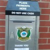 Payments can be deposited in the box for utility bills and parking citations.  Please do not deposit cash.