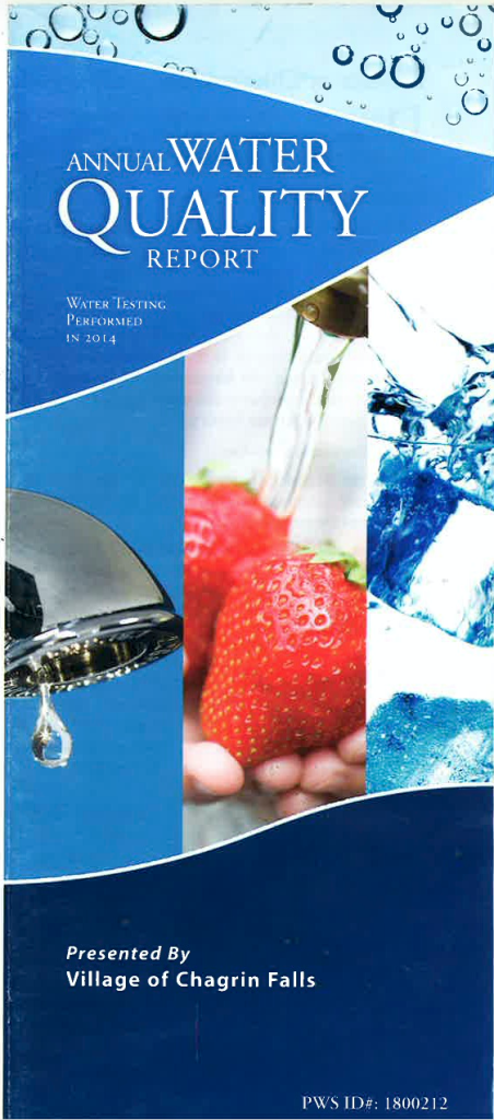 2014 Water report cover
