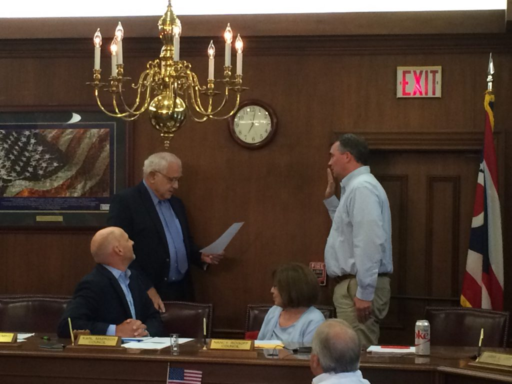 John Mitchell sworn in as new Council Member 2016